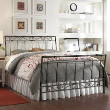 iron bed heritage silver finish scroll work design