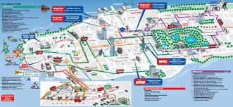 map of new york city map of new york with attractions major tourist