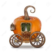 pumpkin carriage pumpkin carriage isolated on white background stock photo picture