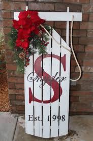 creative ideas christmas sled decoration vintage sleds and