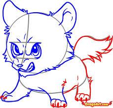 how to draw chibi wolf jacob step by step chibis draw chibi