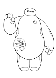 baymax coloring pages for kids printable free big hero 6