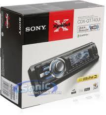 sony cdx gt740ui cdxgt740ui in dash cd mp3 stereo w usb u0026 aux