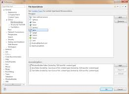 android file associations i open a java source file in eclipse and it opens in the default