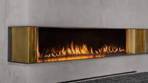 gas fireplace contemporary closed hearth built in luna