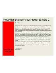 industrial engineering cover letter samples and templates