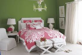 pink and green room decorating with pink and green