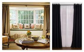 Window Bay Curtains Drapes On The Outside Of The Bay Window Seats Perhaps With