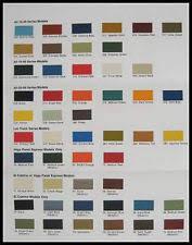 chevrolet paint colors chart ebay