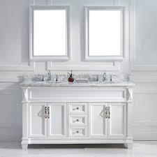 61 bathroom vanity set with white marble top and