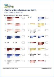 grade 1 math worksheet sample worksheets pinterest math