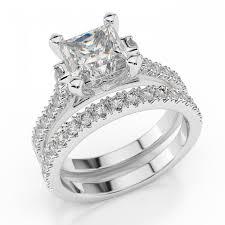 white gold wedding rings diamond bridal set felicienne premier 2 3 carat 0 60ct