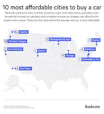 Cheap Cities To Live In by What U0027s An Affordable Car Where You Live The Answer May Surprise