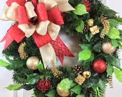 artificial wreaths front door decorations