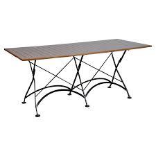 folding patio dining table outdoor furniture designhouse french veranda european cafe 32 x 72