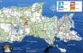 peninsula michigan map newberry area tourism assn michigan attractions lodging