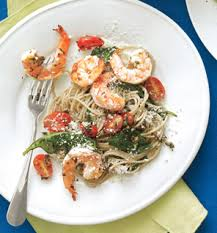 Dinner Ideas With Shrimp And Pasta Sunday Dinner Shrimp Scampi With Pasta Spinach Cherry Tomatoes