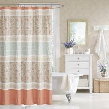 Pink And Gray Curtains Gray U0026 Silver U0026 Pink Shower Curtains You U0027ll Love Wayfair