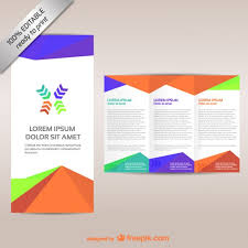 3 fold brochure template free download colorful tri fold brochure