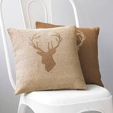 stag s head hessian cushion country crafts country and craft stag s head hessian cushion