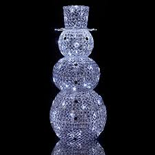 lewis large outdoor acrylic snowman light