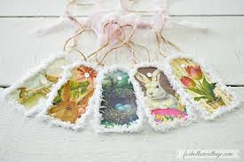 Easter Bunny Decorations Diy by Vintage Printable Paper Bunny Banner An Easter Decor Craft Fox