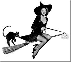 classic hollywood actress ava gardner vintage halloween witch pin