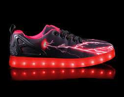size 5 light up shoes big kids led light up shoes pulsar black red cheap sale