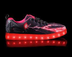 Kids Light Up Shoes Big Kids Led Light Up Shoes Pulsar Black Red Cheap Sale
