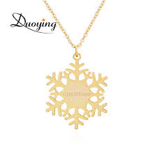 custom personalized jewelry duoying snowflakes necklaces name custom personalized christmas
