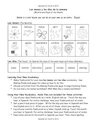 days of the week in spanish worksheet worksheets