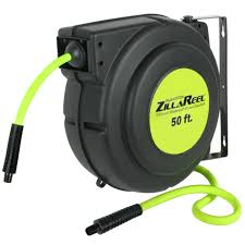 legacy zillareel hose reel with 3 8 in x 50ft flexzilla air