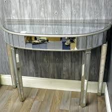 Half Moon Console Table Mirrored Half Moon Console Table Uk John Lewis Astoria Style Glass