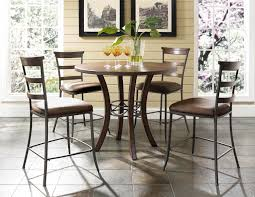 hillsdale cameron dining table hillsdale cameron 5pc round counter height dining set w ladder