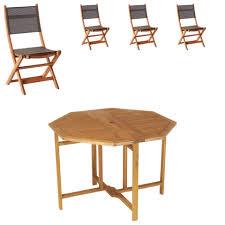 chaises pliables salon de jardin da nang 1 table 4 chaises pliables jysk