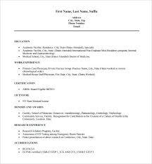 cv format for veterinary doctor medical resume template nurse resume template for word doctor resume