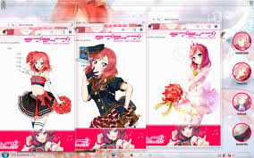 live themes windows 7 love live school idol project nishikino maki windows 7 theme by