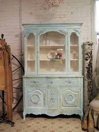 shabby chic china cabinet painted cottage shabby aqua chic china cabinet cc262 painted