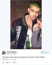 Zayn Malik Memes - 10 of the weirdest memes about zayn malik s new green hair