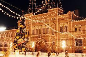 snow winter santa lights holidays city