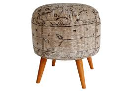 Narrow Storage Ottoman Furniture Small Round Ottoman With Storage Kilim Ottoman