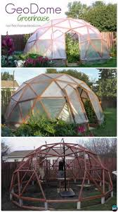 free house projects diy geodome greenhouse free plan instruction 15 diy green house