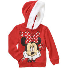 Minnie Mouse Clothes For Toddlers Minnie Mouse Baby Toddler Faux Fur Trim Fleece Hoodie