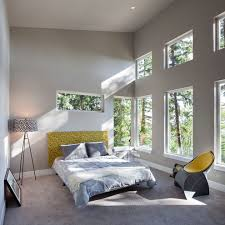 foursquare bedroom contemporary with clerestory windows bathroom