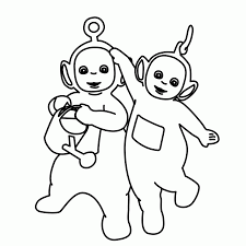 meet po teletubbies tinky winky coloring picture for kids