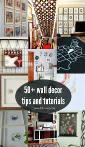 remodelaholic 50 wall decor tips and ideas