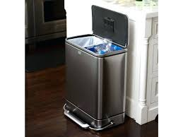 large rubber garbage cans slim step can black plastic rubber