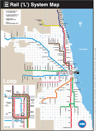 Chicago City Limits Map by The Transit Tourist Chicago Ill The Source