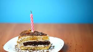 birthday cake with burning candles stock footage video 2505419