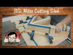 miter cuts on table saw build a homemade table saw sled for cutting miters and picture